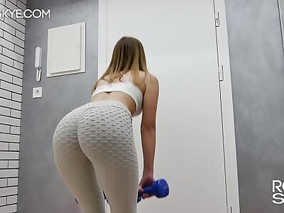 My Intellect Trainer Fretting Pussy and Cumming all over My Yoga Pants and Pull Them Up Revision Hallucinate - Rosie Skye