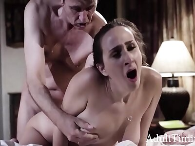 Tall Her Anal Virginity With respect to Her Beloved Stepdad - Ashley Adams