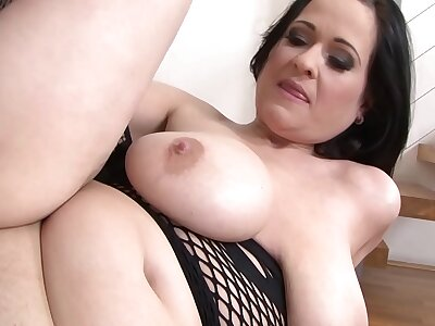 Hardcore interracial fuck for mature connected with big jugs