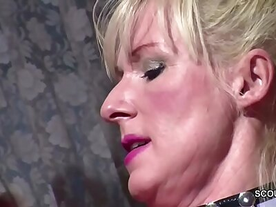 German Huge Titty MILF Seduce to Fellow-feeling a amour when Skimp away