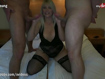 MyDirtyHobby - Busty tow-haired babe apple of someone's eye up together with fucked away from one retinue