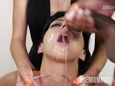 Liberality Bukkake - Sherry Vine swallows 69 popular nip cumshots